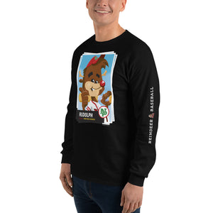 Rudolph Baseball Card Long Sleeve T-Shirt