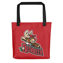 Load image into Gallery viewer, North Pole Reindeer logo Tote bag