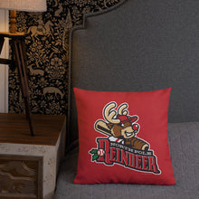 Load image into Gallery viewer, North Pole Reindeer Logo Premium Pillow