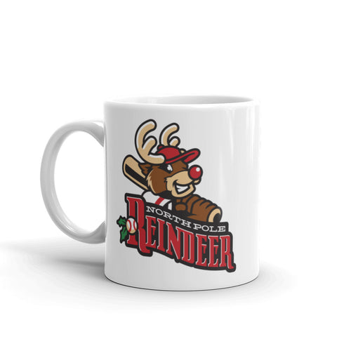 North Pole Reindeer logo mug (11 oz)