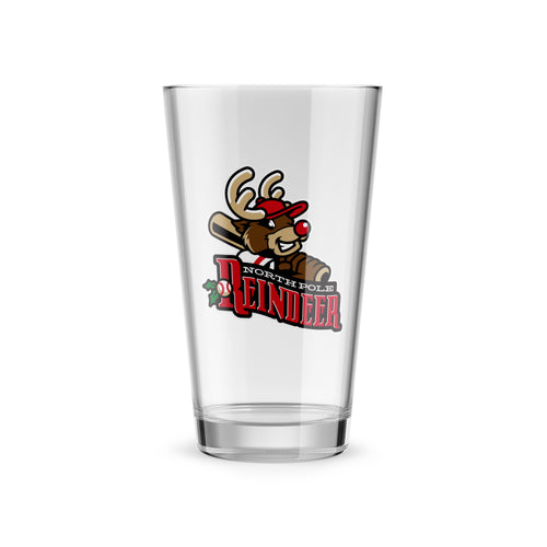 North Pole Reindeer Logo Pint Glass