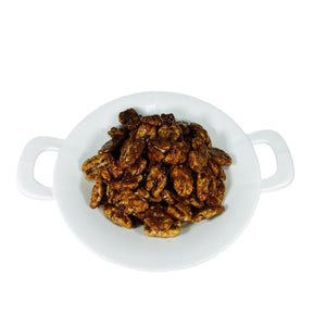 Maple Syrup Pecans 1lb. Container La Marguerite
