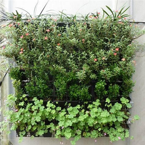 Wall Garden Planter Hanging Wall Plant Pockets Vertical 36 Pockets, Wall Mount Planter Solution