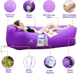 Elite Inflatable Lounger Couch Chair Portable Air Sofa Hammock Waterproof