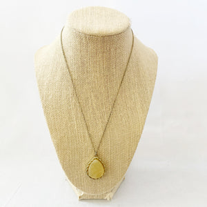 Yellow Pendant Necklace