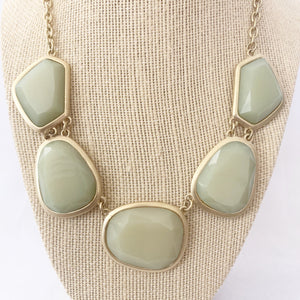 Celadon Color Statement Necklace