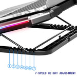 NUOXI Gaming Laptop Cooler Six Fan Led Screen - Stand Hut