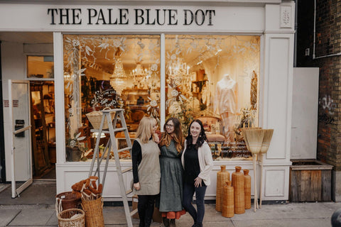The Pale Blue Dot Women Nancy Mary and Pamela outside The Shop Photo by Rachel Connell General Store