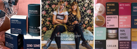 Naige and Pippa Founders of Routine Natural Deodorant Available at The Pale Blue Dot Hamilton Ontario