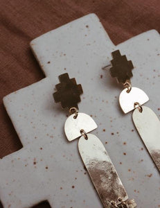 Sonoran Sunset Brass Earrings