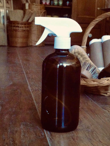 16oz Amber Glass Spray Bottle