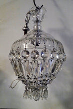 Load image into Gallery viewer, Antique French Empire Basket Chandelier w Crystal Crown -2 of 2