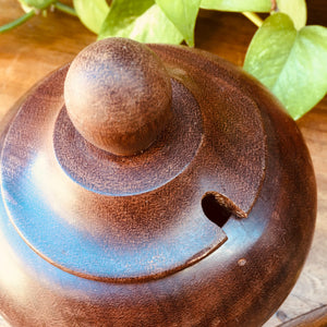 Solid Wooden Bowl with Lid