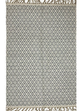 Load image into Gallery viewer, Cotton and Jute Rug Med Grey + White