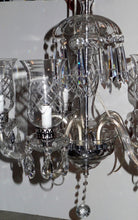 Load image into Gallery viewer, Antique French Traditional Style 5 Arm Crystal Chandelier with Crystal Cheminee'