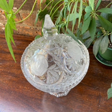Load image into Gallery viewer, Spectacular Cut Glass Lidded Dish with Pedestal