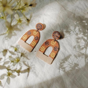 La Mexicana Painted Earrings - Arch