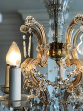 Load image into Gallery viewer, Antique Mother Maria Theresa 5 Arm Chandelier