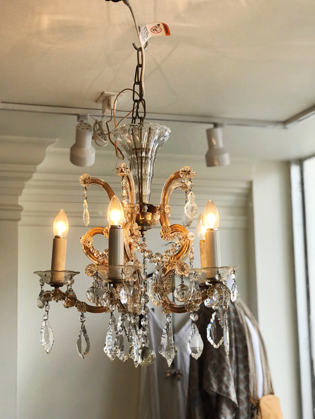 Antique Mother Maria Theresa 5 Arm Chandelier