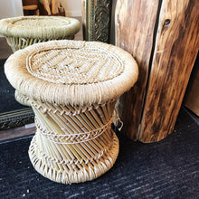 Load image into Gallery viewer, Natural Woven Stool