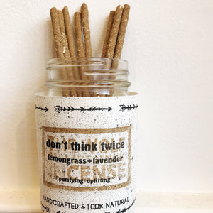 "Handmade Incense ""Don't Think Twice"""