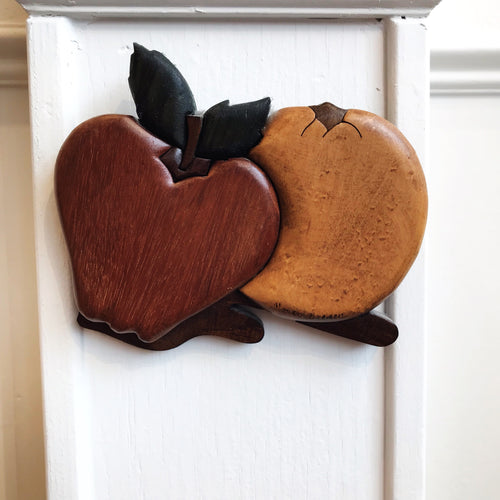 Vintage Wood Apple Wall Art