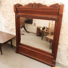 Load image into Gallery viewer, Vintage Large Carved Mirror