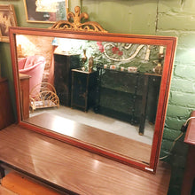Load image into Gallery viewer, Large Vintage Mahogany Hanging Mirror
