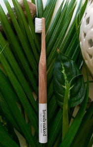 Adult Bamboo Toothbrush Medium- Nylon Bristles