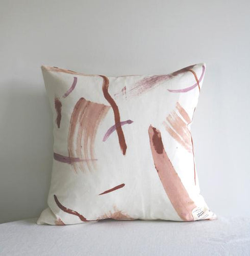 Botanically Dyed Cushion by Wild Woven