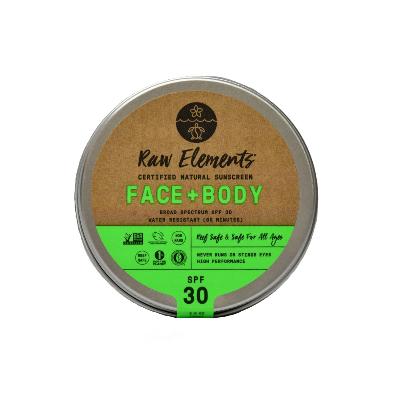 Face and Body Natural Sunscreen SPF 30