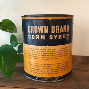 Antique Crown Brand Corn Syrup Can