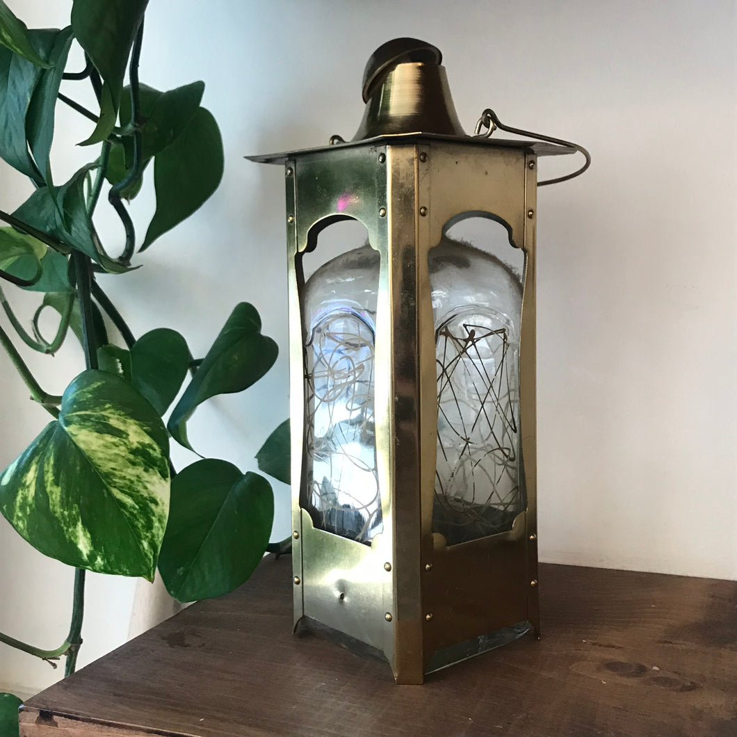 Vintage Brass Decanter Lantern