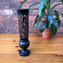 Load image into Gallery viewer, Tall Wooden Carved Vase
