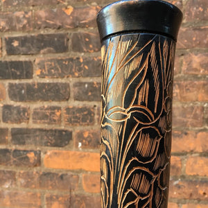 Tall Wooden Carved Vase