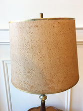 Load image into Gallery viewer, Wood and Brass Retro Mcm Lamp with Shade