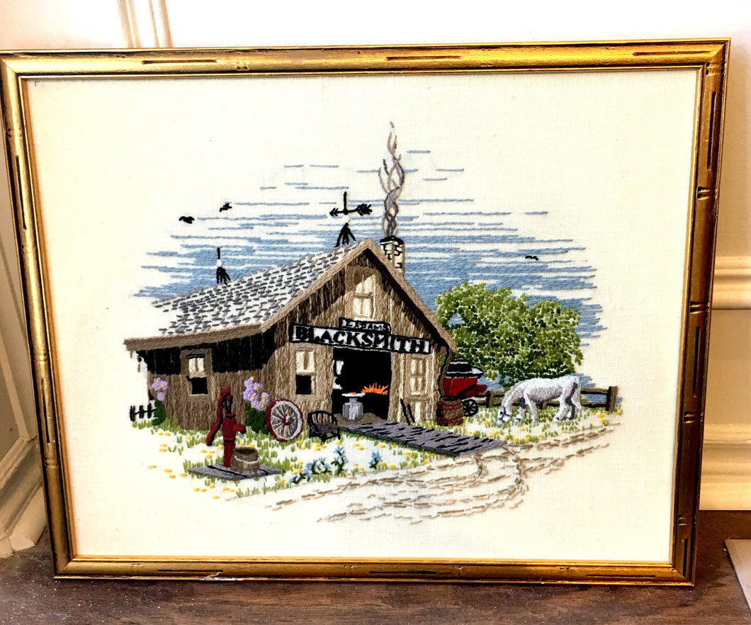 Needlepoint of Farm Blacksmith
