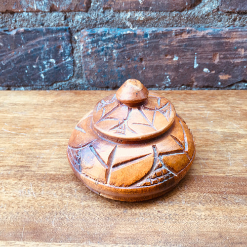 Small Lidded Handcarved Box