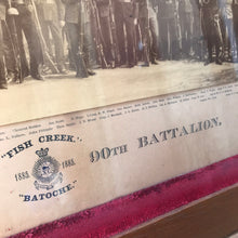 "Load image into Gallery viewer, 1885 Photograph of ""F"" Company 90th Battalion ""Fish Creek Batoche"" in Antique Frame"