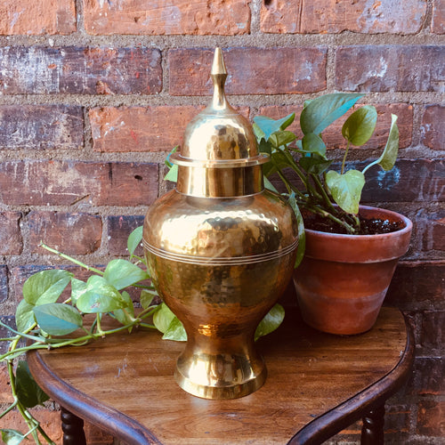 Stunning Large Brass Lidded Urn