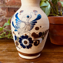 Load image into Gallery viewer, Large Vintage Folk Art / Boho Vase (Scalloped Edge)