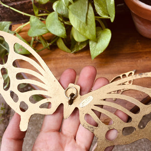 Brass Butterfly Trivet / Wall Hanging