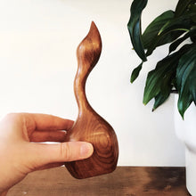Load image into Gallery viewer, Carved Wood Swan
