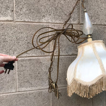 Load image into Gallery viewer, Vintage Hanging Fringe Lamp (as is)
