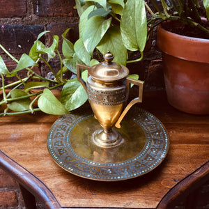 Rare Brass Incense Dish