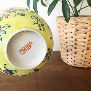 Vintage Ceramic Hand Painted Noodle Bowl