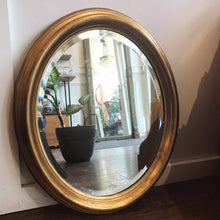 Load image into Gallery viewer, Vintage Oval Gold Mirror