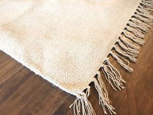 Cotton and Jute Rug Natural