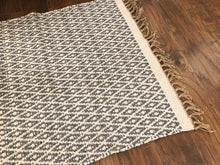 Load image into Gallery viewer, Cotton and Jute Runner Dark Grey + White