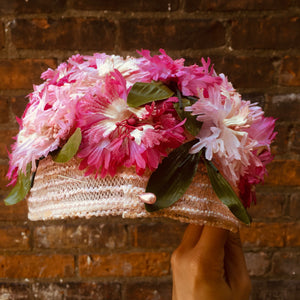 Vintage Pink Carnation Flower Hat